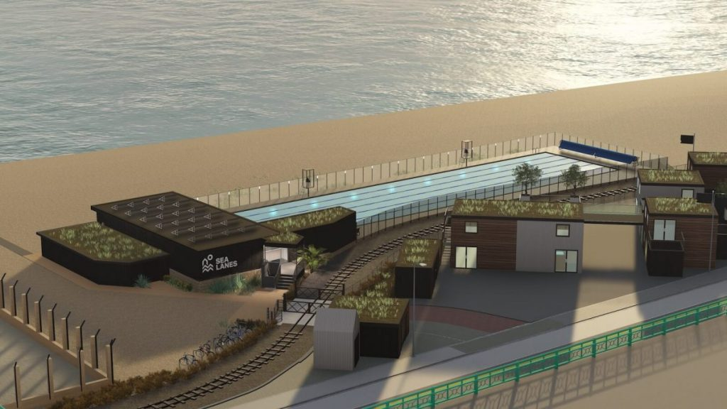 A mock-up of the planned Brighton seafront lido.