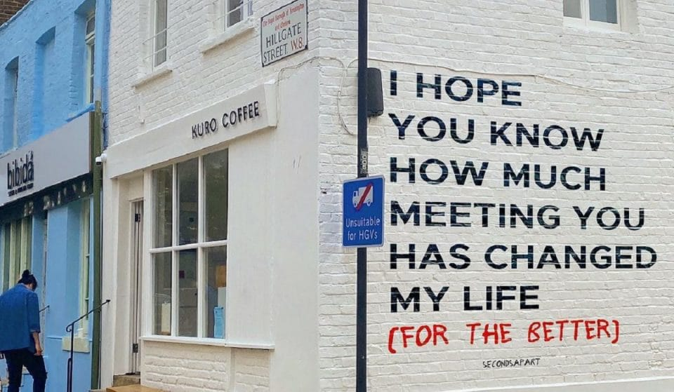 The Wholesome Instagram Initiative Spreading Beautiful Messages Across London • Seconds Apart