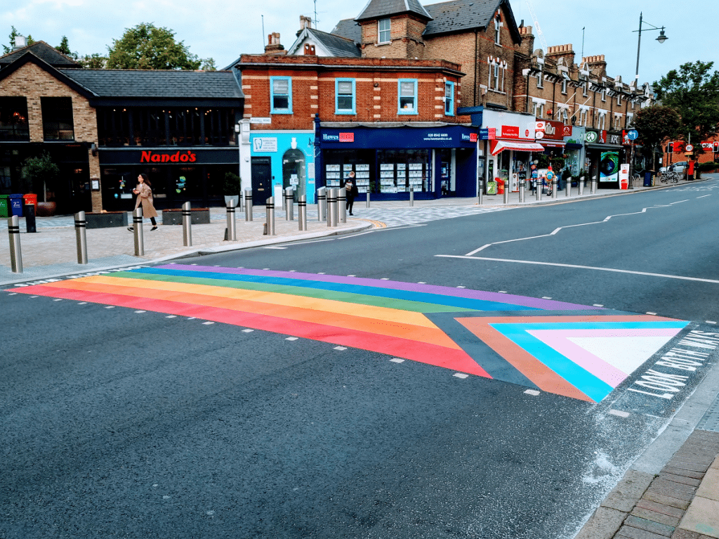 wimbledon rainbow crossing
