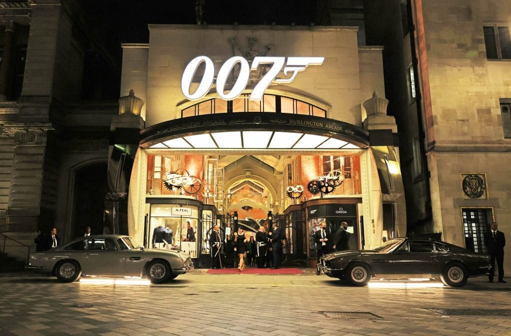 A 007 Installation Has Launched In Burlington Arcade To Celebrate 'No Time To Die'