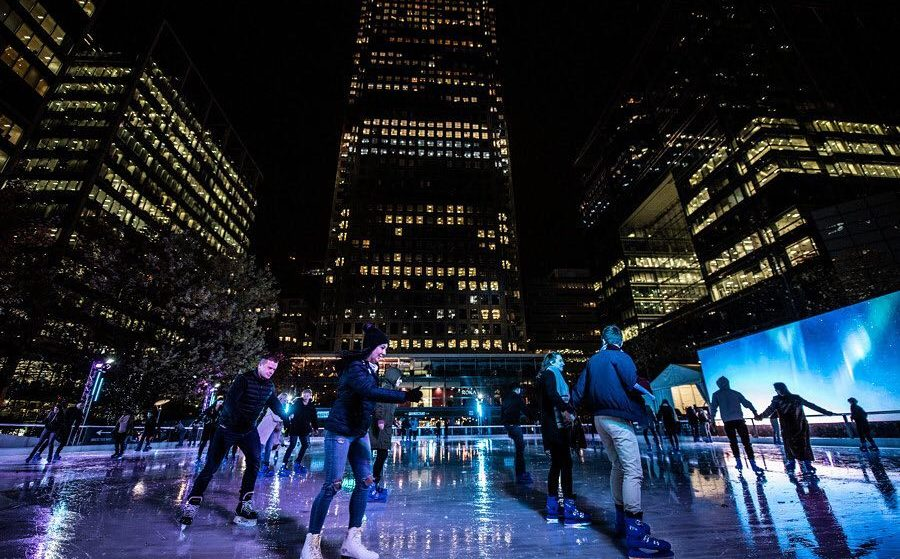 Canary Wharf's Enchanting Ice Rink Will Return To Town This Winter