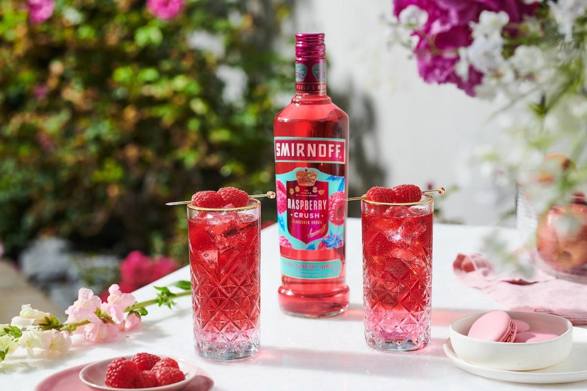 smirnoff raspberry crush cocktails