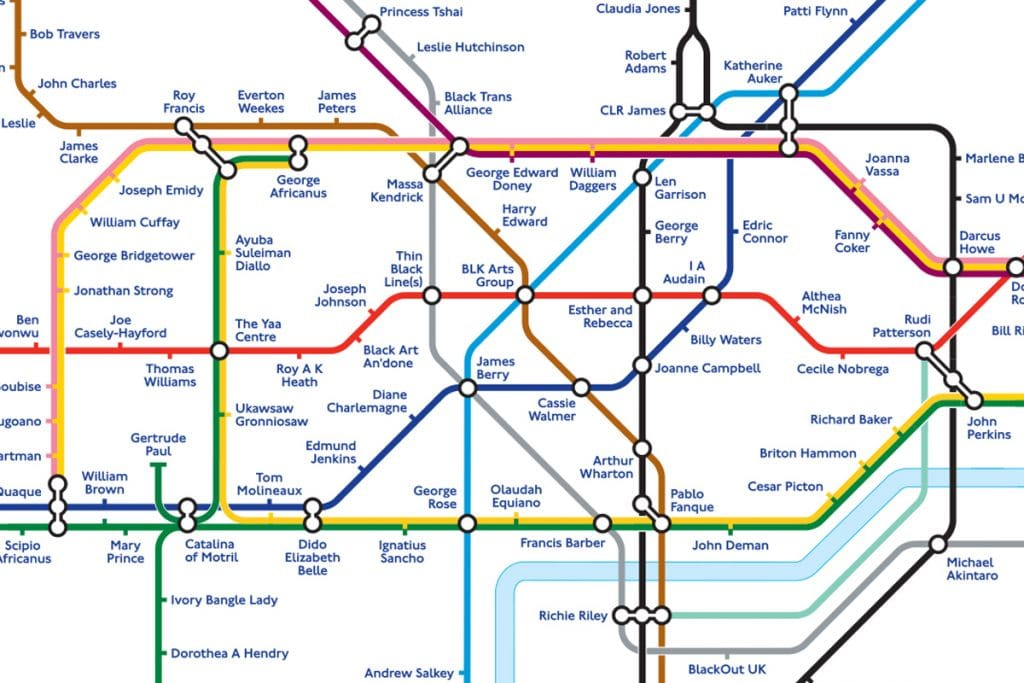 TFL Have Redesigned The London Tube Map To Mark Black History Month