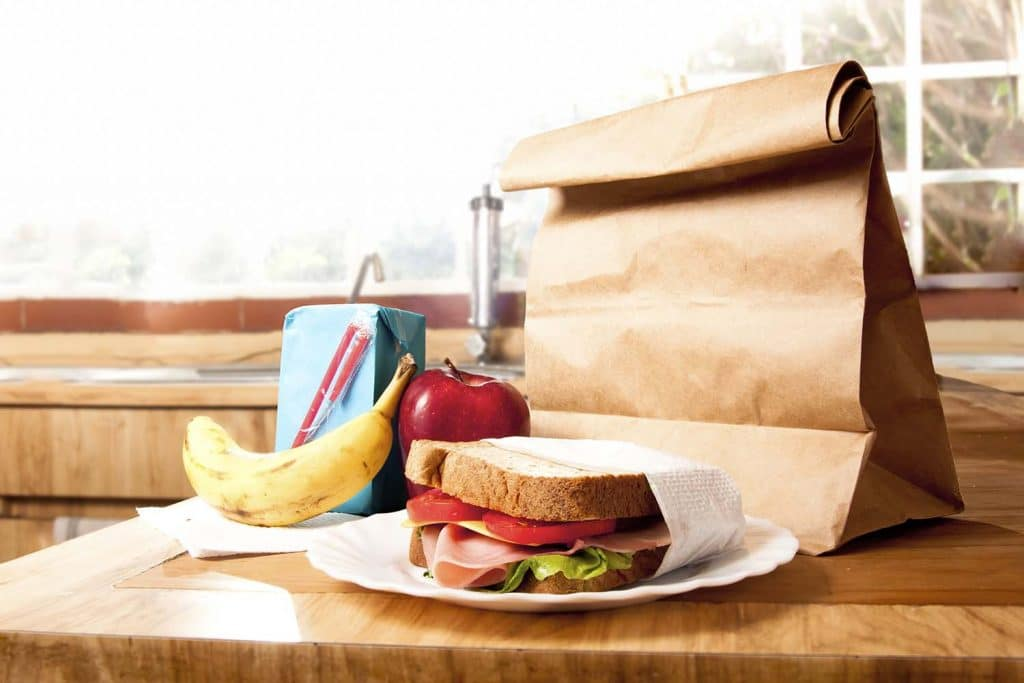free school meals packed lunch