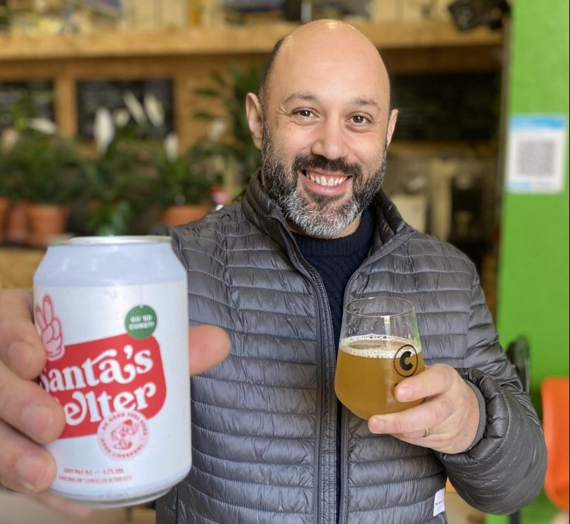 santas belter beer liverpool food banks