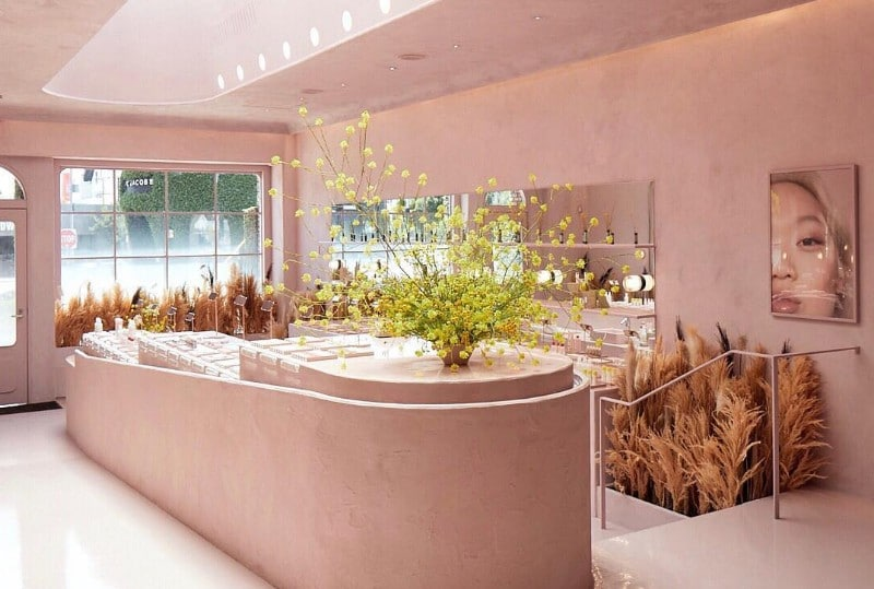 Look Forward To Visiting An Indoor Canyon At Glossier's First Retail Store