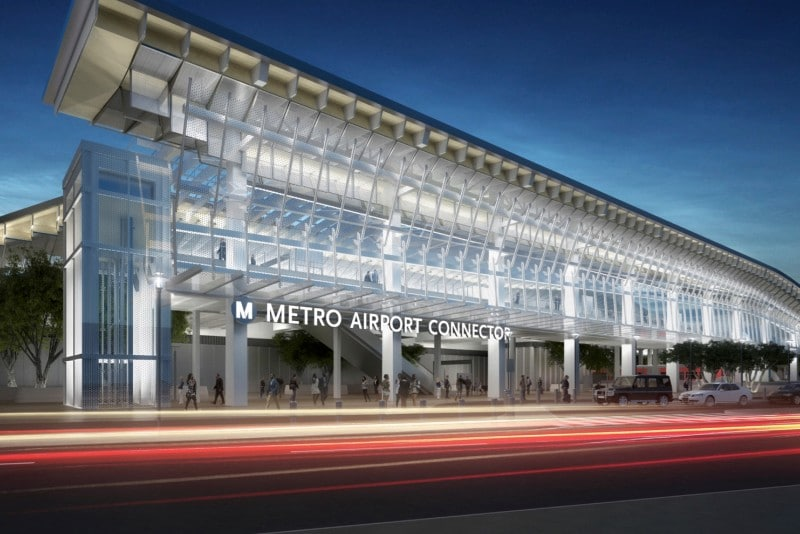 New Renderings Of The LAX Airport Metro Connector Station Have Been Released