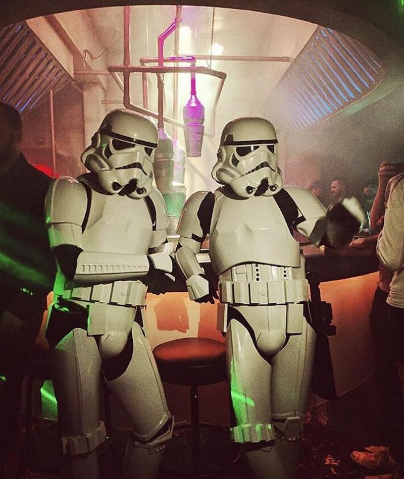Storm troopers drinking