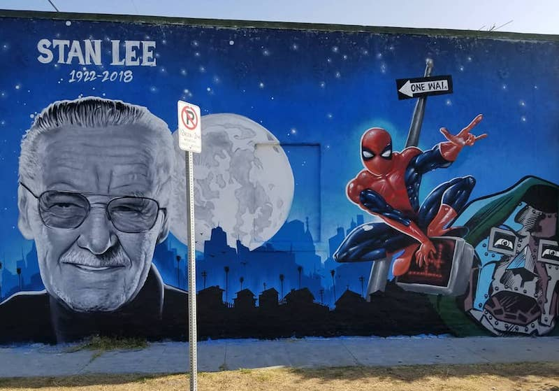 A Gorgeous Mural Of Stan Lee Has Emerged In Los Angeles