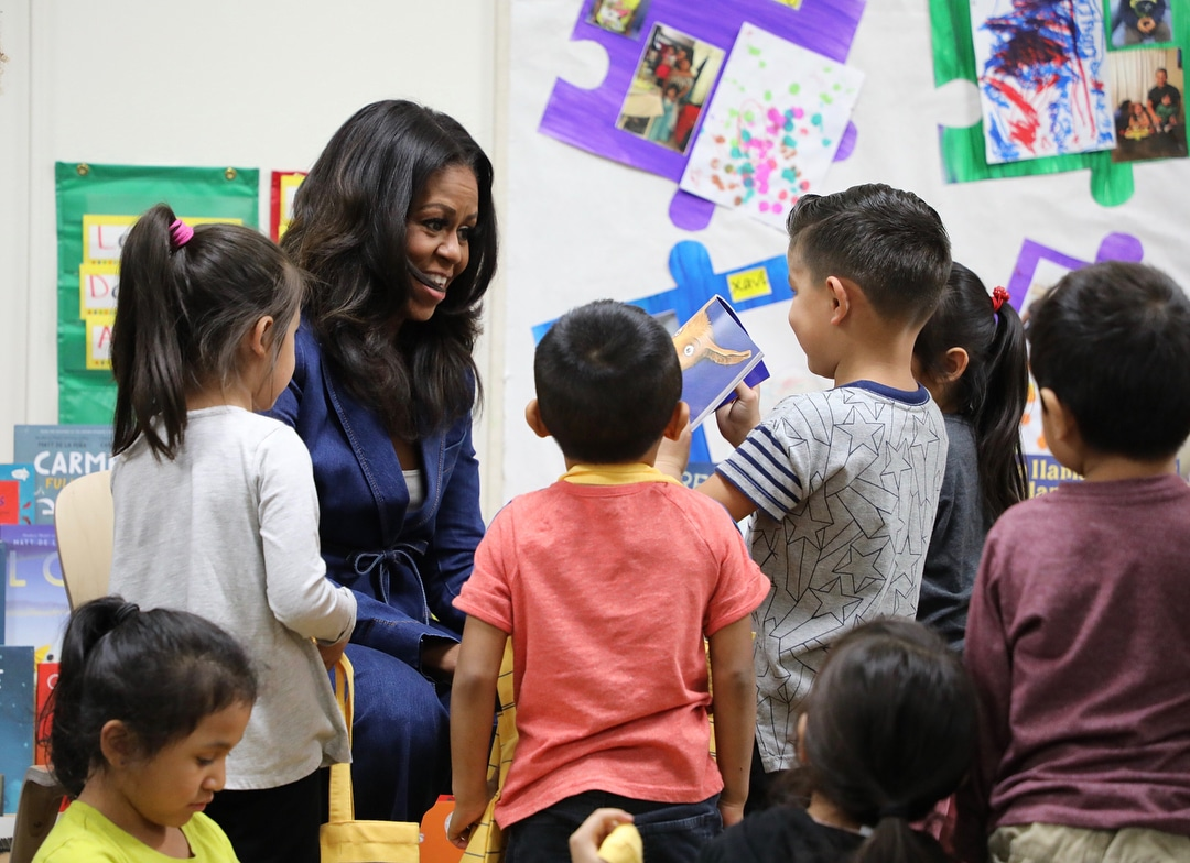 Michelle Obama Surprised Kids At A DTLA School During Storytime