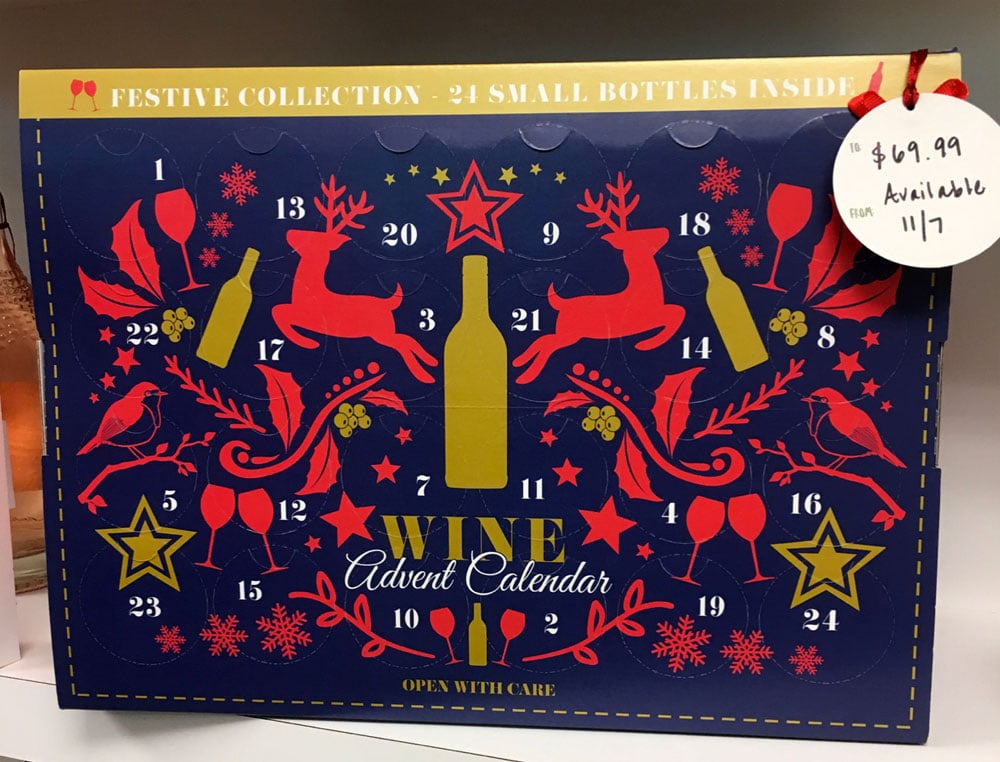 Adulting Is Counting Down To Christmas With Wine And Cheese Advent Calendars