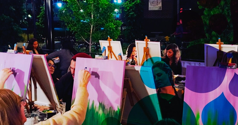 Channel Your Inner Bob Ross At These Wine-Powered Painting Classes