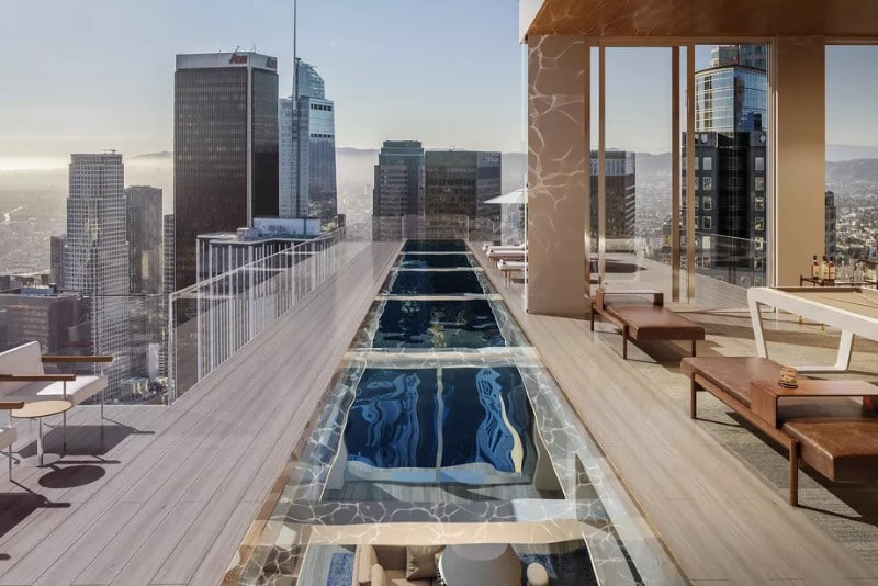 Renderings Have Been Released Of A Janga-Like Skyscraper With Glass-Bottomed Pools
