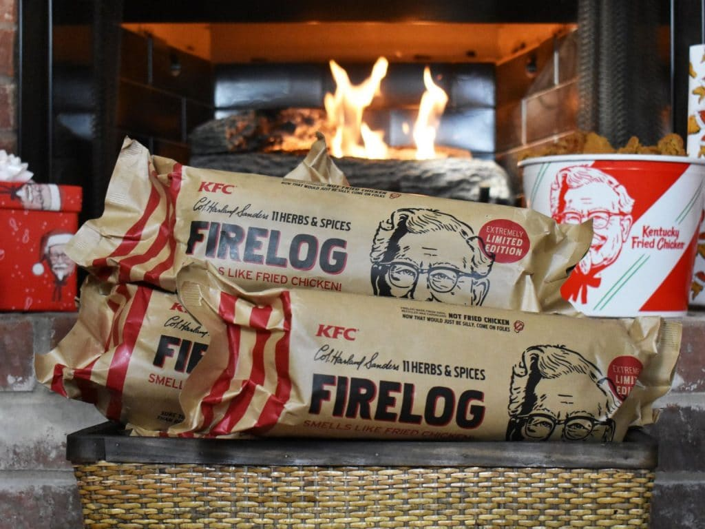 KFC Is Ringing In The Holidays With A Fried Chicken Scented Fire Log
