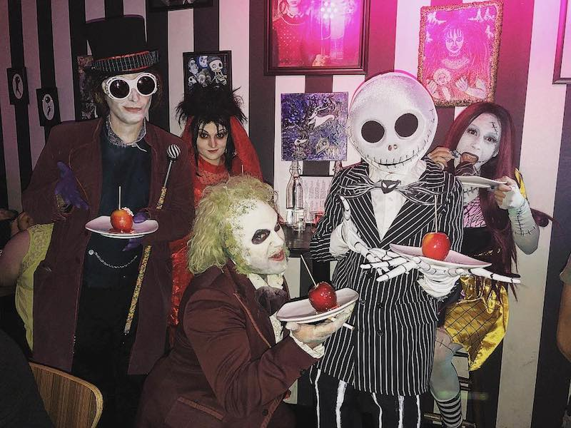 This Beetle Juice-Inspired Bar In Hollywood Is A Year-Round Treat For Tim Burton Devotees