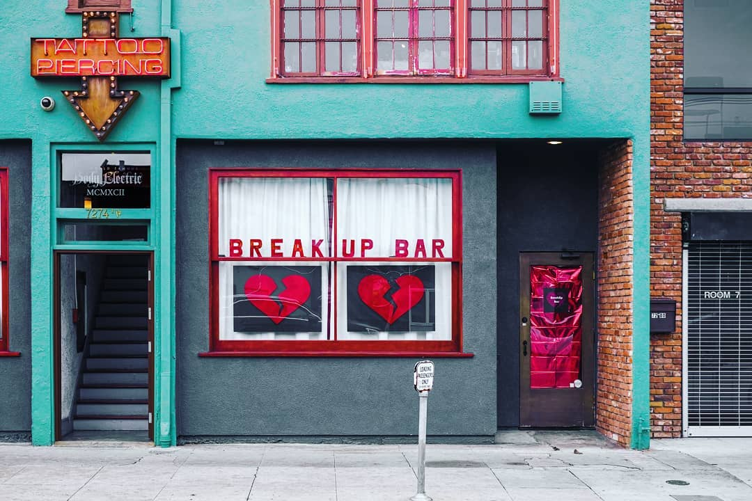 If You're Anti-Valentine's Day You'll Love This Pop-Up Bar On Melrose • Break-Up Bar