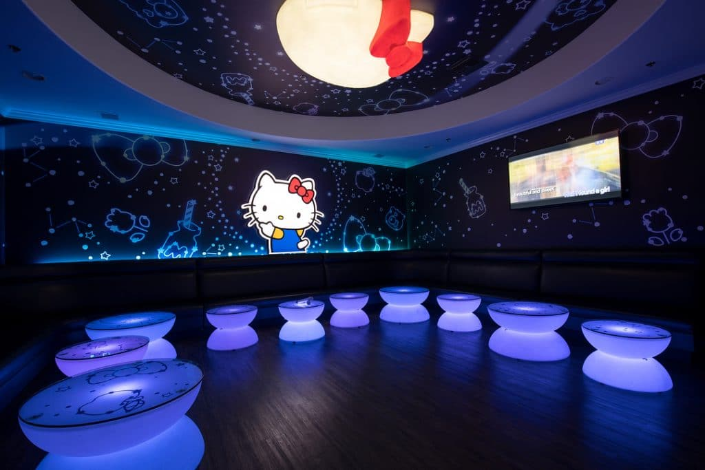 Hello Kitty Is Taking Over A Karaoke Lounge In Alhambra And It's Super Kawaii