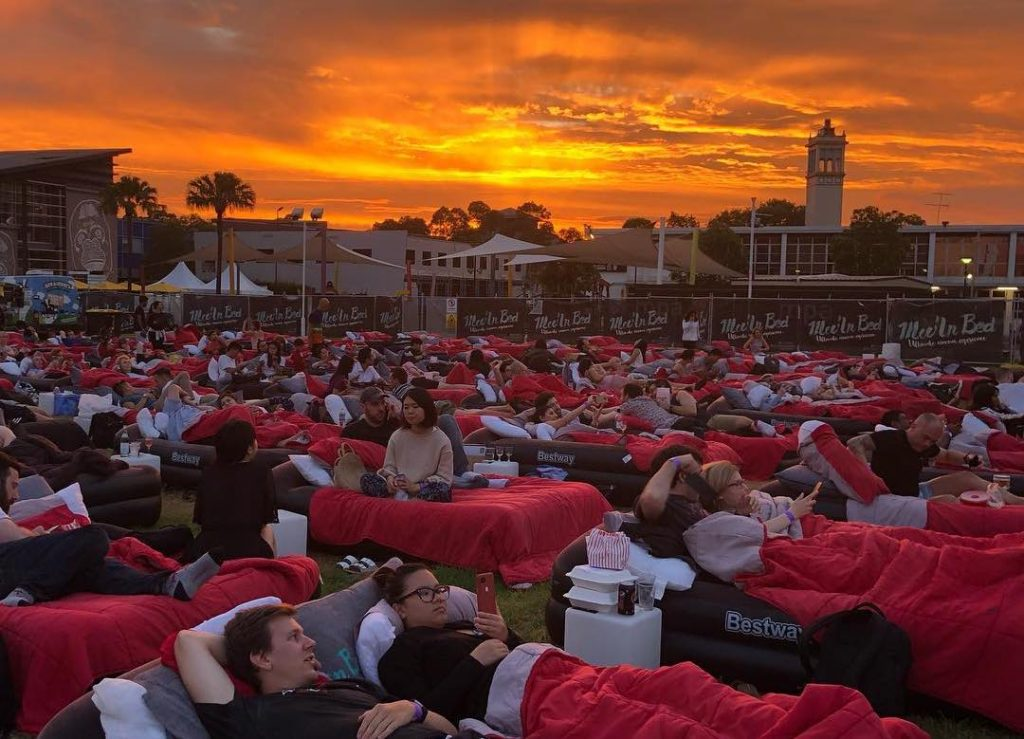 Catch An Outdoor Movie Without Ever Having To Leave Bed This Summer