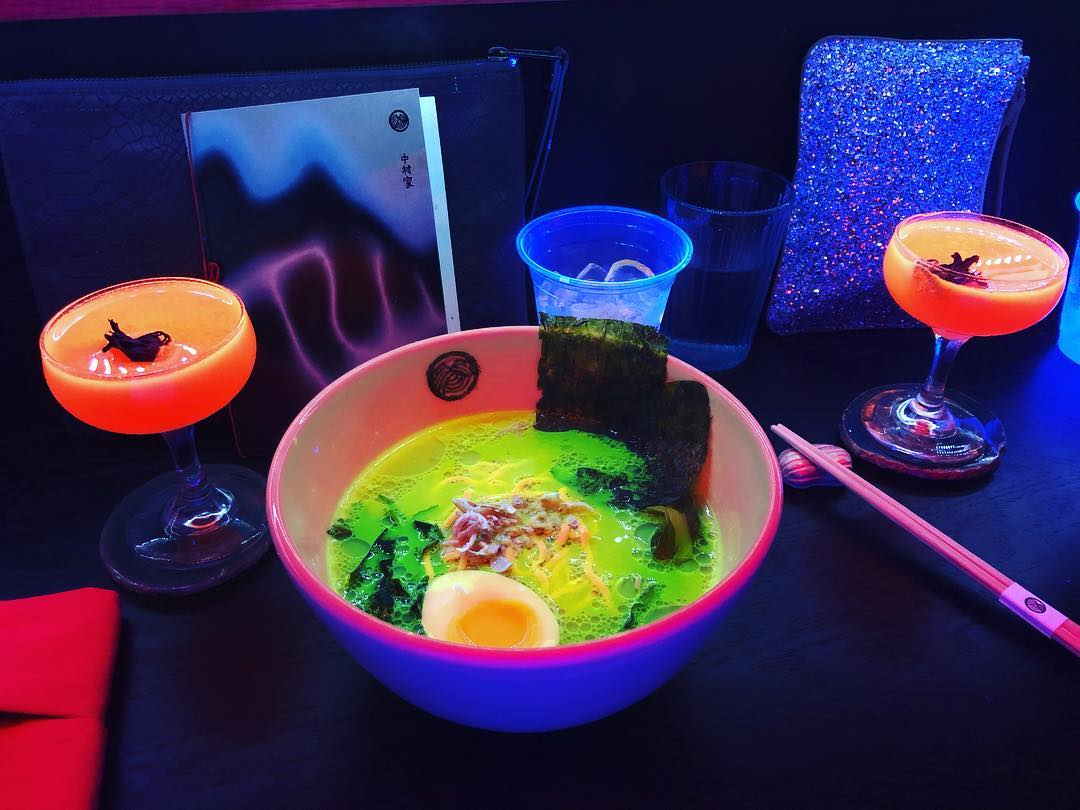 This Pop-Up Shop Is Serving Everything From Glow-in-the-Dark Ramen To Neon Cocktails