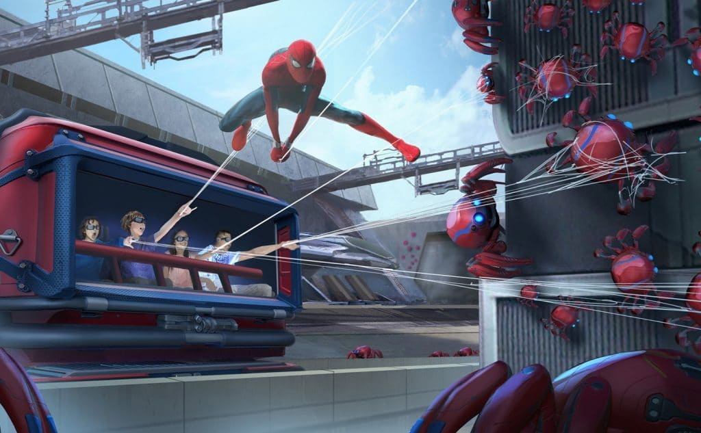 A New Web-Slinging Spider Man Ride Was Revealed At The D23 Expo In Anaheim