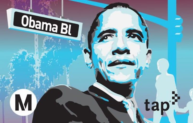 You Can Get A Commemorative Obama Boulevard TAP Card While Supplies Last