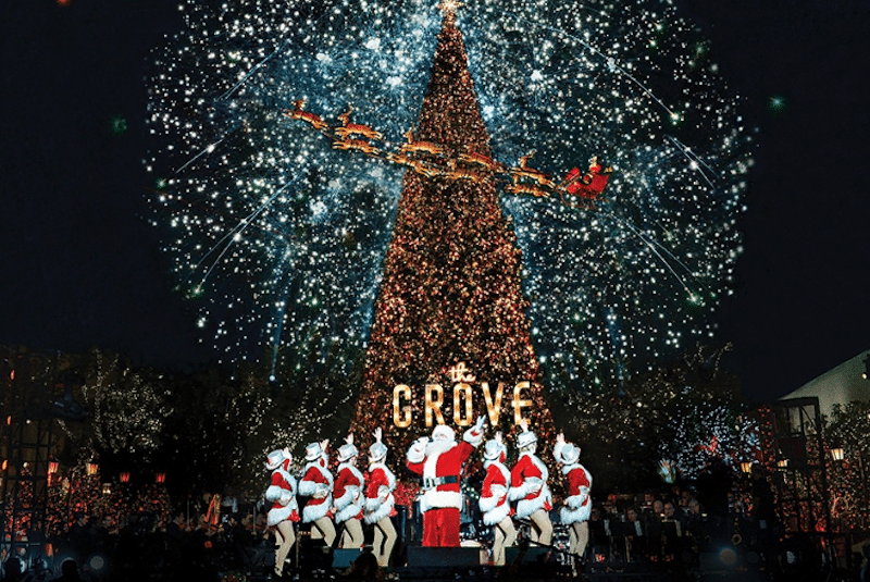 Catch A Spectacular Firework Show At The Grove's Christmas Celebration This Weekend