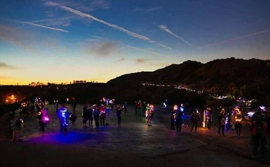 Locals Are Embarking On A Holiday Festival Of Lights Hike At Griffith Park This Weekend