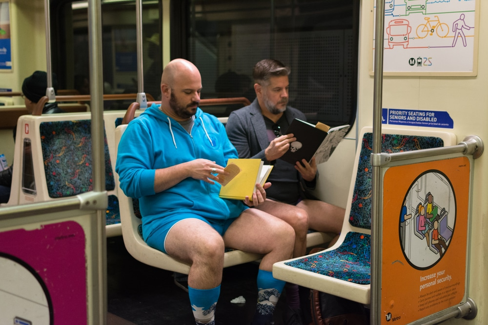 Heads Up LA: You May See People Riding The Metro In Their Underwear This Weekend