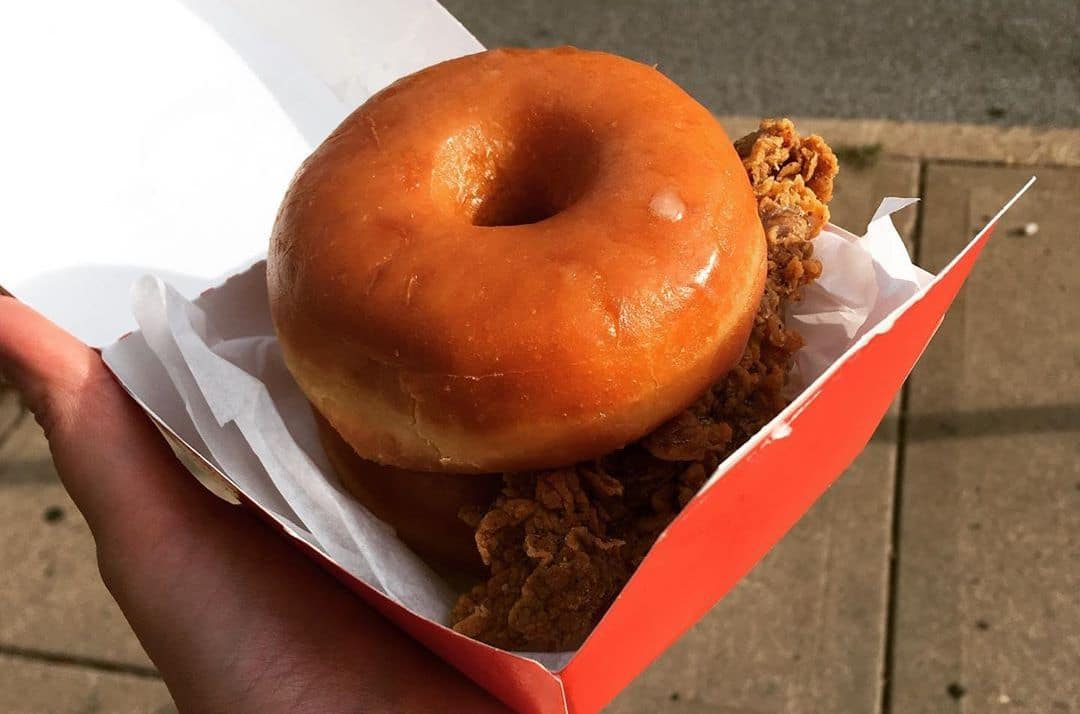 KFC Released A Donut Fried Chicken Sandwich & Now Popeyes Is Giving Theirs Away For Free