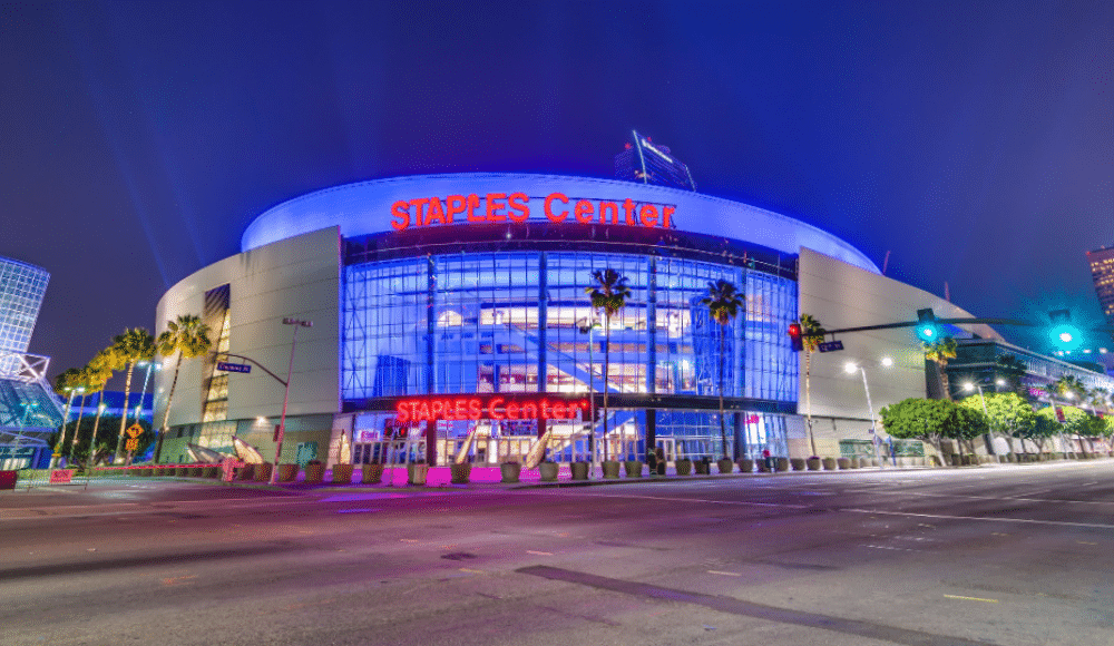 The Staples Center & Other L.A. Landmarks Will Light Up Blue Tonight For Healthcare Workers