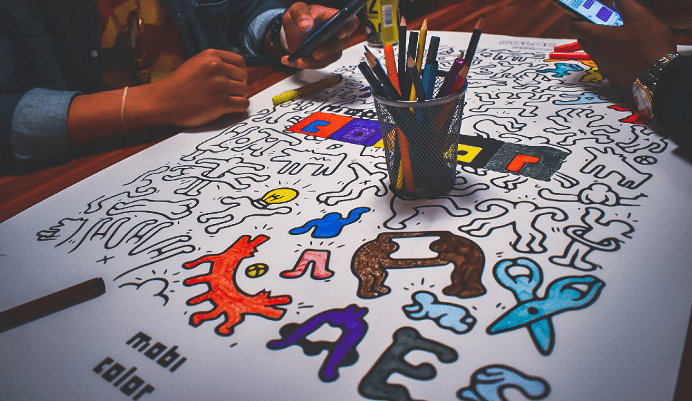 Cultural Icons Are The Subjects Of This Creative Adult Coloring Session