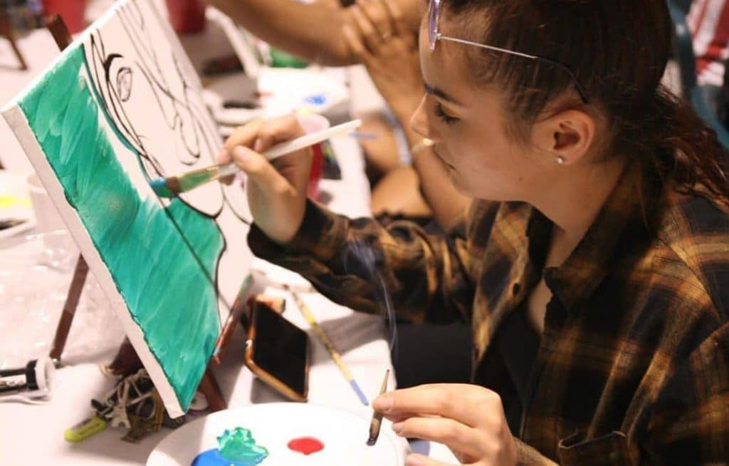 Create A Mind-Altering Masterpiece At This Virtual Puff And Paint Party Happening This Weekend