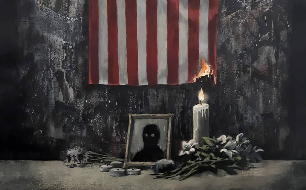 Banksy Has Revealed A Powerful New Artwork Inspired By The Black Lives Matter Movement