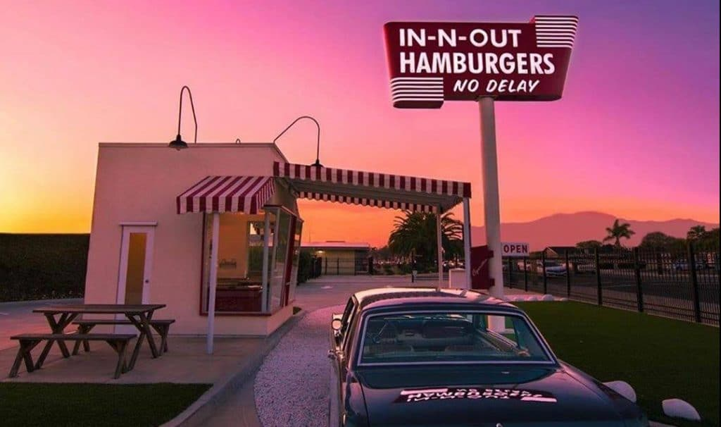 Take A Trip Back In Time To The Retro Replica Of The Original In-N-Out In Baldwin Park