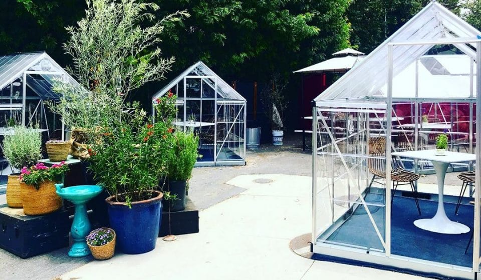 This L.A. Cafe Has Made Cute Greenhouses So Diners Can Enjoy Socially-Distanced Meals