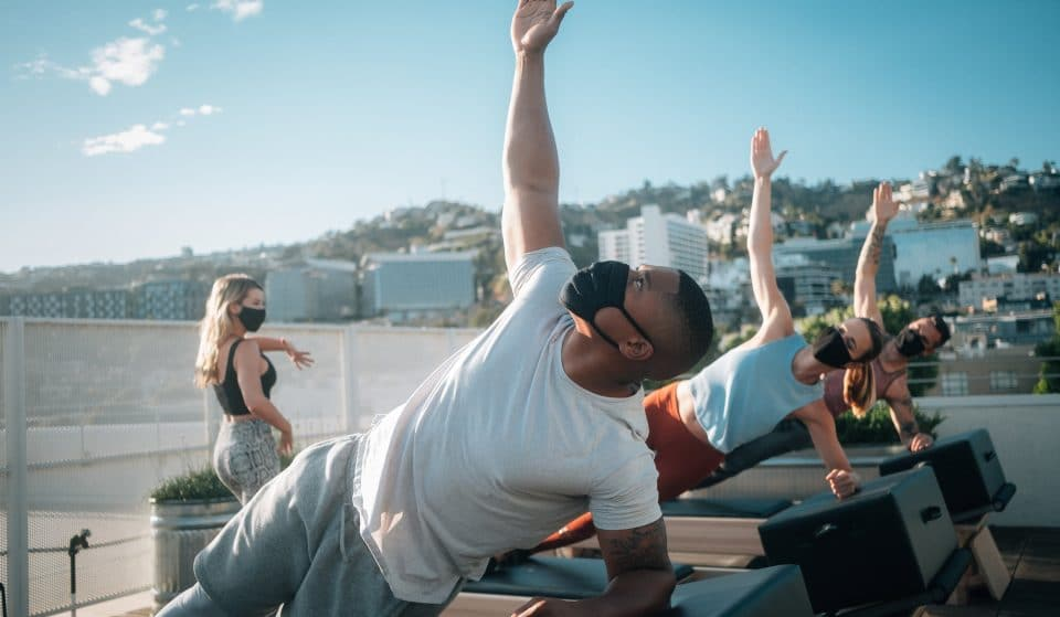 Take In A Sunset Or Sunrise Over The Hollywood Hills With These Rooftop Pilates Classes