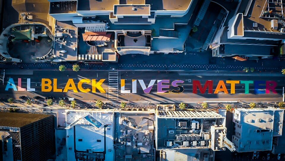 'All Black Lives Matter' Street Mural On Hollywood Boulevard To Become Permanent Art