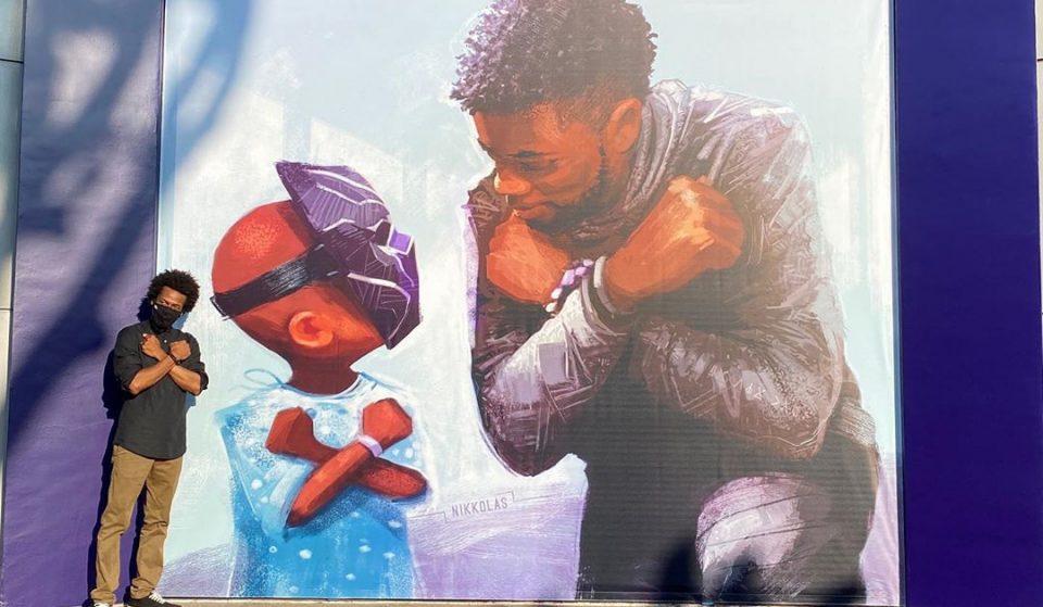 A Beautiful Chadwick Boseman Tribute Mural Has Just Been Unveiled At Disneyland