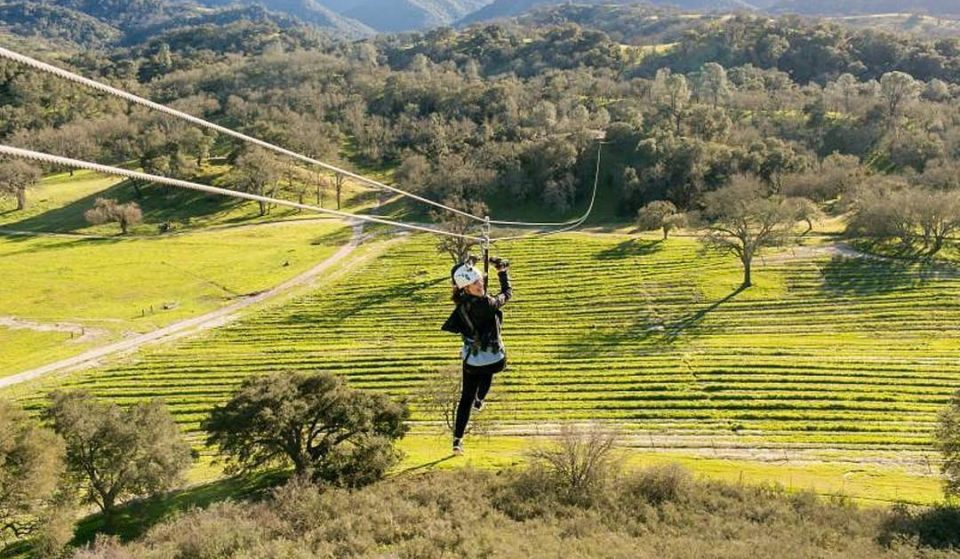 You Can Zipline Over A Picturesque Vineyard And Sip On Delicious Wines At This Historic Ranch