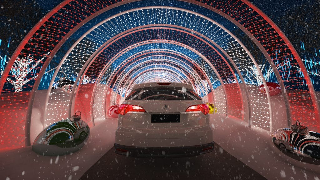 WonderLAnd's Magical Drive-Thru Features Millions Of Lights And A Christmas Tree Maze