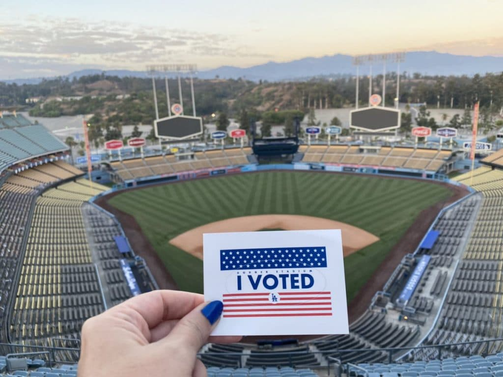 A Look At The Dodger Stadium Voting Experience In L.A.