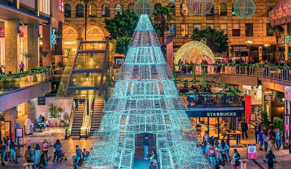 Wander Through 18 Million Hues Of Lights At The 'Sparkle DTLA' Holiday Displays
