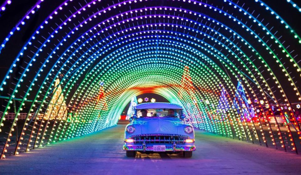 A Technicolor Holiday Drive-Thru Featuring Millions Of Brilliant Lights Is Now Open