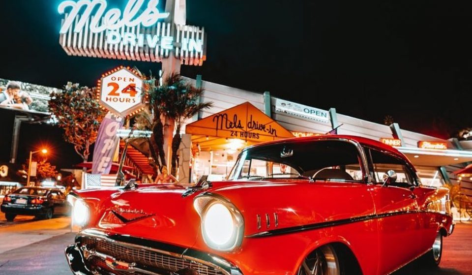 Take A Trip Back To 1947 With Mel's Neon-Lit Carhop Dining Service