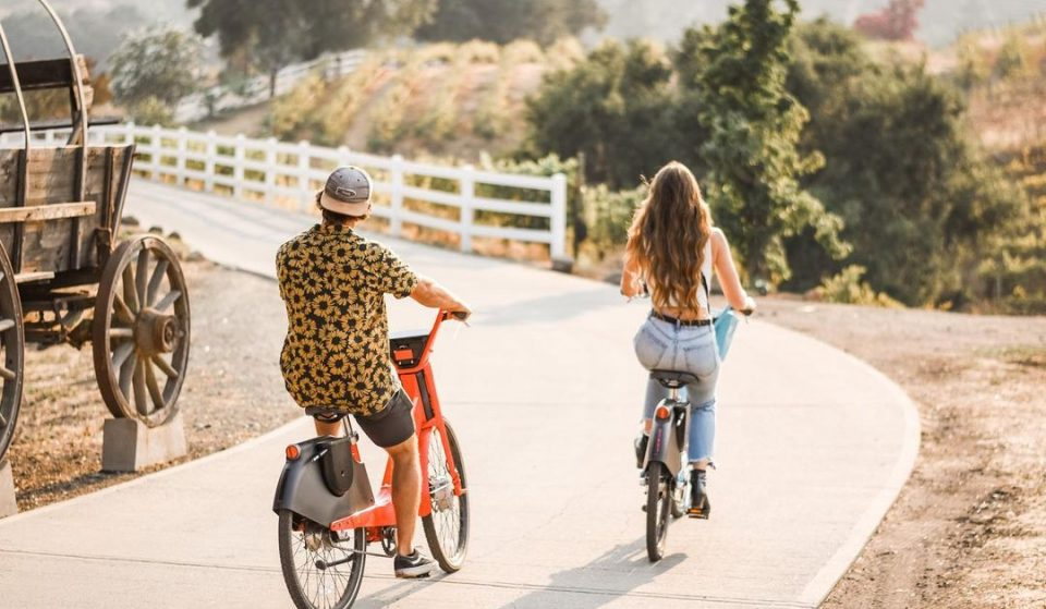 Take A Wine And Bike Tour Through A Vineyard In The Mountains Of Malibu