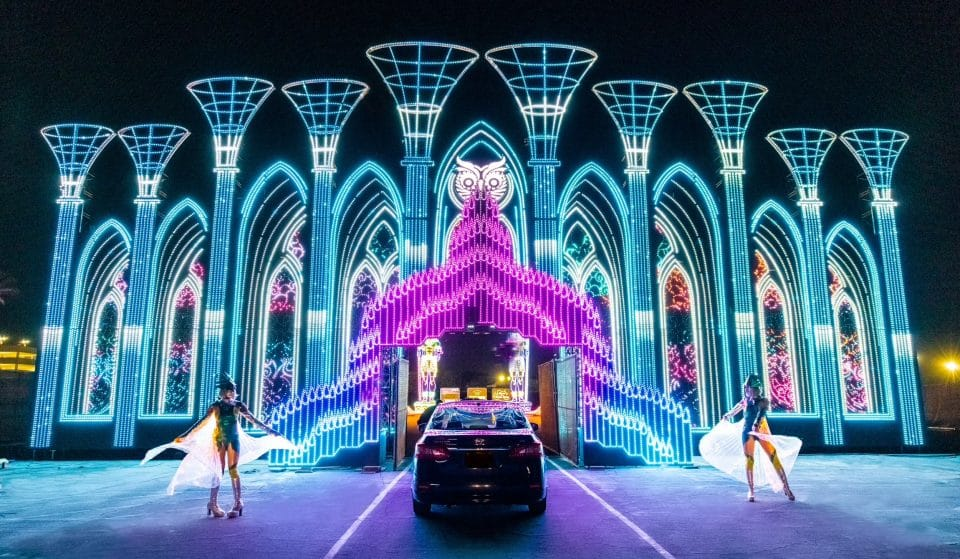Insomniac's Electric Mile Drive-Thru Experience Is A Neon Narnia For All Ages