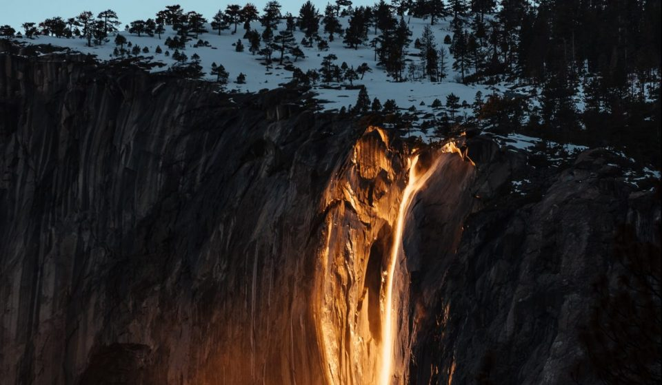 This Rare Glowing 'Firefall' Is Happening In Yosemite National Park