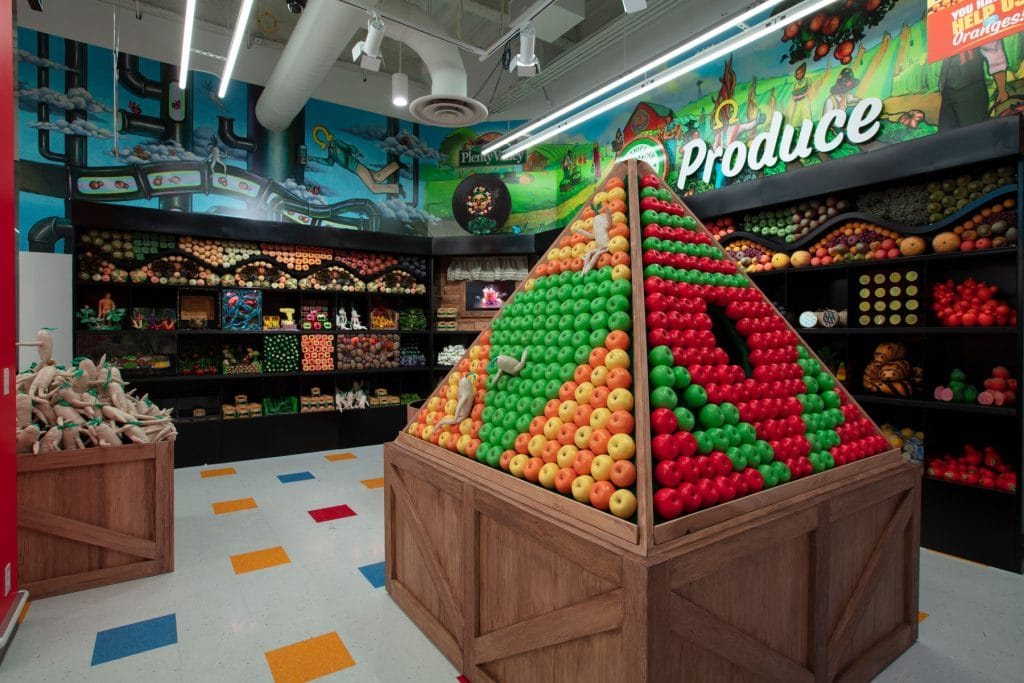 This Psychedelic Grocery Store In Las Vegas Takes Immersive Art To A Surreal Level