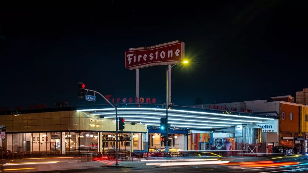 The Historic Firestone Tire Building Has Reopened With Tacos And Craft Beer