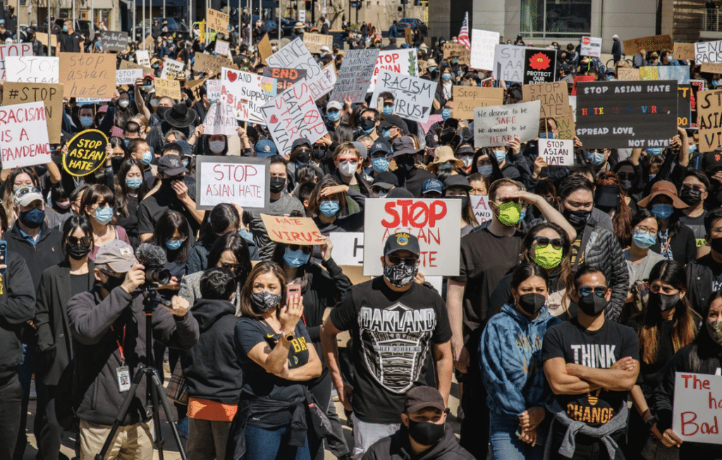 Thousands Took To The Streets Of L.A. On Saturday To Rally Against Asian Hate Crimes
